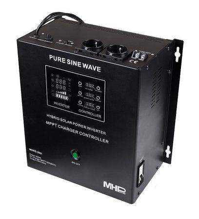 Záložní zdroj MHPower MSKD-500, UPS, 500W, čistý sinus, 12V, solární regulátor MPPT