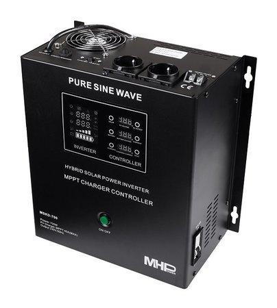 Záložní zdroj MHPower MSKD-700, UPS, 700W, čistý sinus, 12V, solární regulátor MPPT