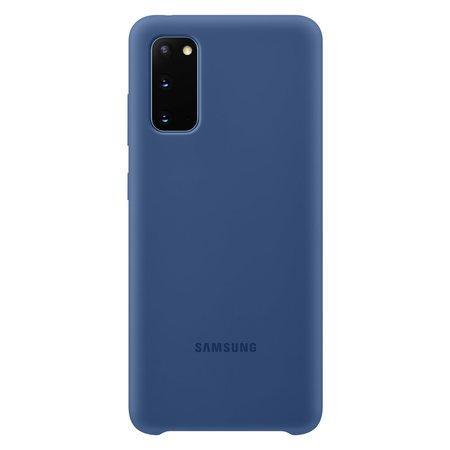 Silikonový zadní kryt Samsung Galaxy S20 Navy
