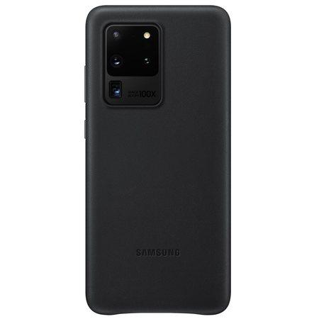 EF-VG988LBE Samsung Kožený Kryt pro Galaxy S20 Ultra Black