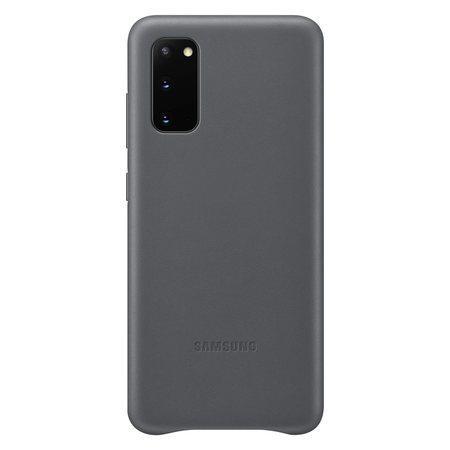 Kožený zadní kryt Samsung Galaxy S20 Gray