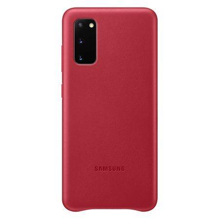 Kožený zadní kryt Samsung Galaxy S20 Red