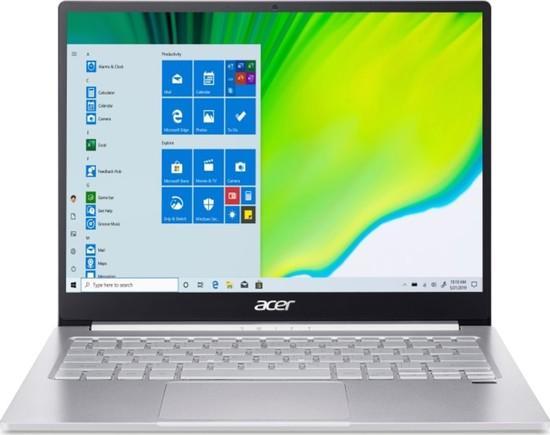 "Ntb Acer Swift 3 (SF313-52G-76Q4) i7-1065G7, 16GB, 1024 GB, 13.5"", 2256 x 1504, bez mechaniky, nVidia 2GB, BT, FPR, CAM, W10 Home - stříbrný, NX.HR1EC.001"