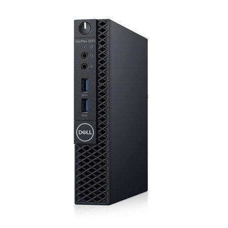 DELL Optiplex 3070 MFF/i5-9500T/8GB/256GB SSD/Intel UHD 630/WL+ BT/WWAN/ KB/Mouse/W10Pro/3Y Basic OS, 6HRK4