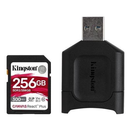 Kingston paměťová karta 256GB SDXC React Plus with Reader
