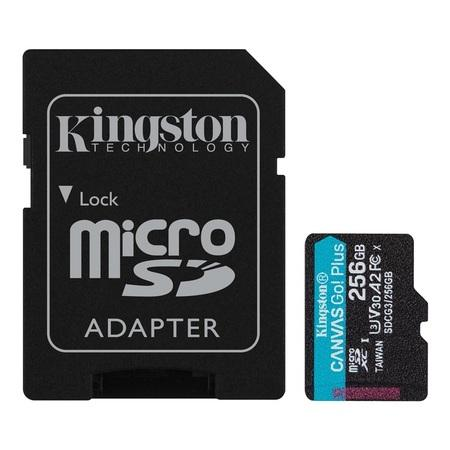 Kingston paměťová karta 256GB microSDXC Canvas Go Plus 170R A2 U3 V30 Card + ADP