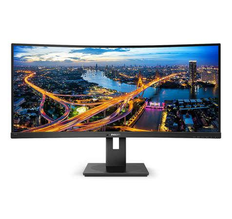 "Philips LCD 345B1C 34"" zakřivený VA/3440x1440@100Hz/5ms/80mil:1/300cd/DP/2xHDMI/4xUSB 3.2/repro/VESA"