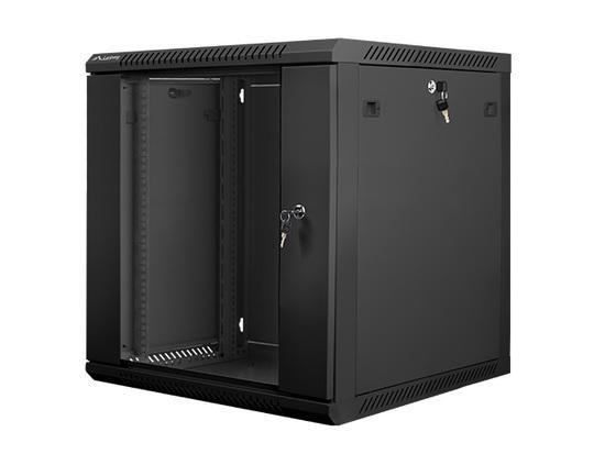 Nástěnný rack 19` 12U 600X600mm černý, WF01-6612-10B