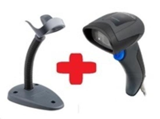 DataLogic QuickScan QD2430, čtečka 2D kódu, stojánek Smart, black, USB kabel, QD2430-BKK1B