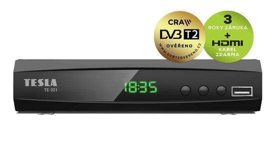 TESLA TE-321, DVB-T2 HEVC FTA přijímač, DVB-T2 ověřeno