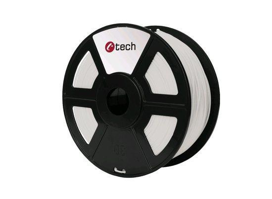 Tisková struna (filament) C-TECH, PETG, 1,75mm, 1kg, natural, 3DF-PETG1.75-NT