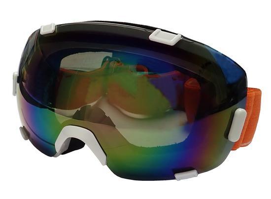 BROTHER B298-B lyžařské brýle s velkým zorníkem - bílé, bílá