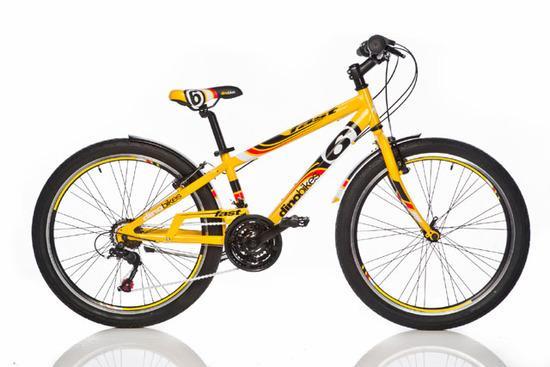 """ACRA Dino 1024G žluté 24"""" 2017 sportovní kolo, žlutá"""