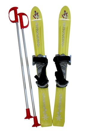 Plastkon LSP70-ZL Lyže dětské 70cm žluté, žlutá