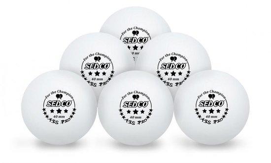 Míčky na stolní tenis plast SEDCO for CHAMPION 3*** CELL FREE 6ks