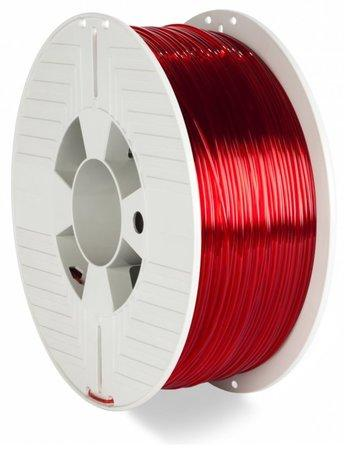 VERBATIM 3D Printer Filament PET-G 1.75mm 1000g red transparent, 55054