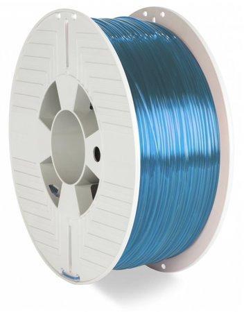 VERBATIM 3D Printer Filament PET-G 1.75mm 1000g blue transparent, 55056