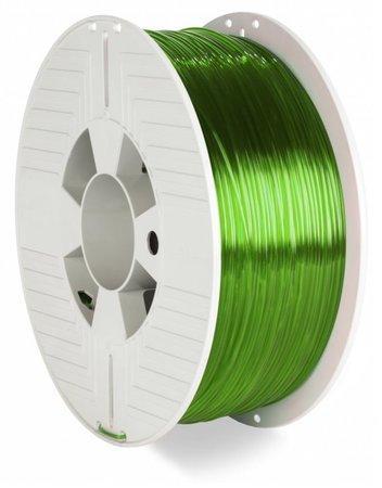 VERBATIM 3D Printer Filament PET-G 1.75mm 1000g green transparent, 55057