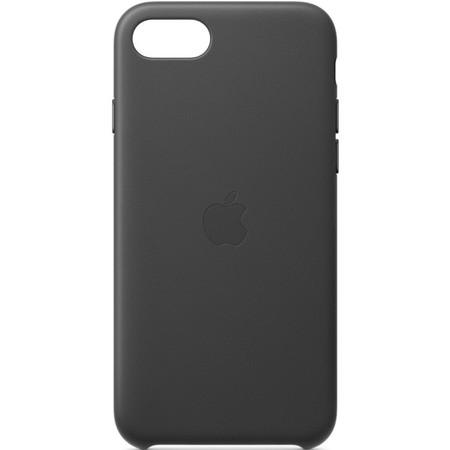 Kryt na mobil Apple Leather Case pro iPhone SE (2020) - černý