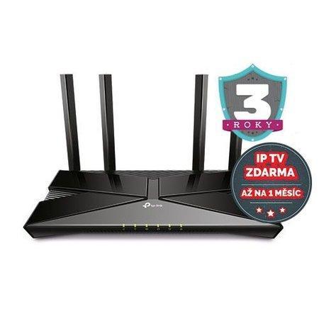 TP-LINK AX3000 WiFi 6 Gigabit Router Dual-Core CPU 2402Mbps na 5GHz+574Mbps na 2.4GHz 4xLAN 1xWAN 1xUSB 3.0 4x Antena (P), ARCHER AX50
