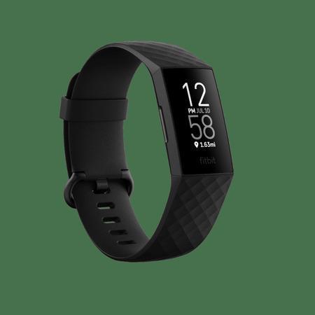 Fitbit Charge 4 Special Edition NFC pletený polyestervý + silikonový řemínek / černé tělo