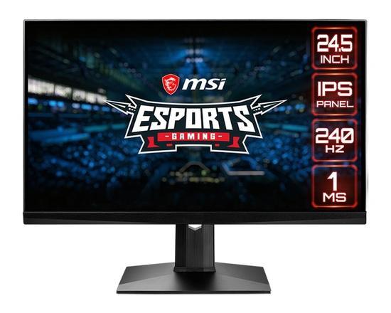 "MSI Gaming monitor Optix MAG251RX, 24,5""/1920 x 1080 FHD/IPS, 240Hz/1ms/1000:1/400cd / m2 /2x HDMI/DP/USB, Optix MAG251RX"