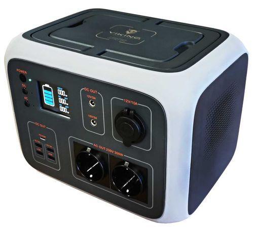 BATERIOVÝ GENERÁTOR VIKING AC600, Přenosná nabíjecí stanice, 230V/600W, UPS, šedá