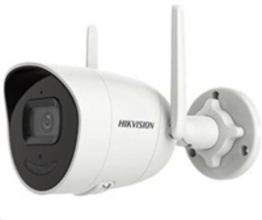HIKVISION IP kamera 2Mpix, H.265, až 25sn/s, obj. 4mm (80°), audio, DI/DO, IR 30m, IR-cut, Wi-Fi, WDR 120dB, mSD, IP66, DS-2CV2026G0-IDW (4mm)