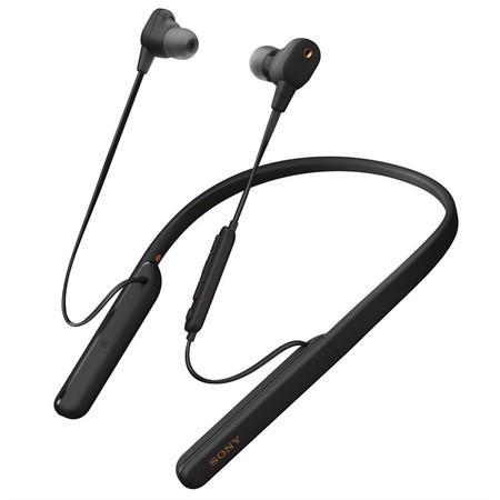 Sony WI1000XM2 bezdrátová sluchátka do uší s týlním mostem černá