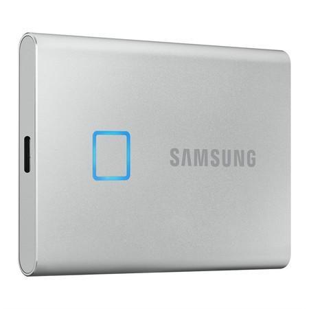 Samsung Externí SSD disk T7 touch - 2 TB - stříbrný, MU-PC2T0S/WW
