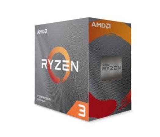 AMD Ryzen 3 4C/8T 3100 (3.9GHz,18MB,65W,AM4)/box + Wraith Stealth cooler, 100-100000284BOX