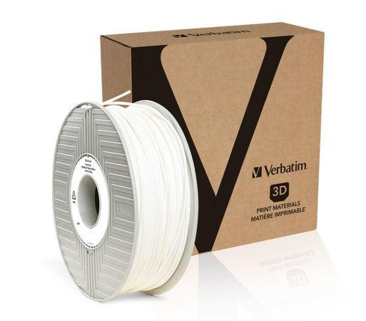 Verbatim Tefabloc TPE struna 2,85 mm pro 3D tiskárnu, 0,5kg, Bílá