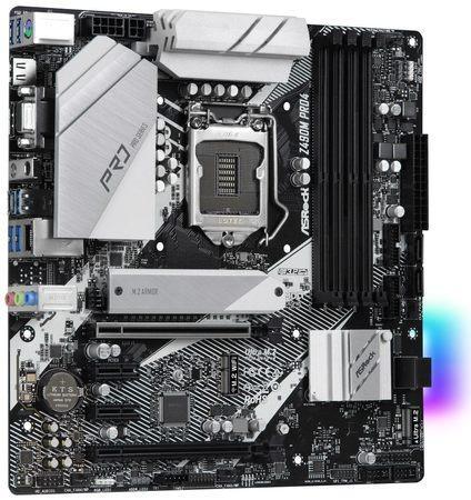 ASRock Z490M Pro4 / LGA1200 / Intel Z490 / 4x DDR4 DIMM / D-Sub / HDMI / DP / 2x M.2 / USB Type-C / mATX, Z490M Pro4
