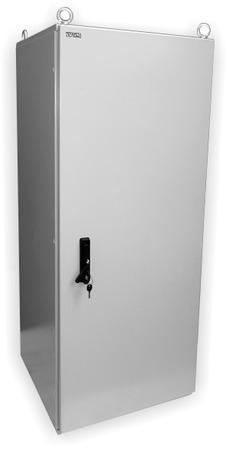 """19"""" OCRACK venkovní rozvaděč IP55 30U-600mm plechové dveře tří bodový zámek"""