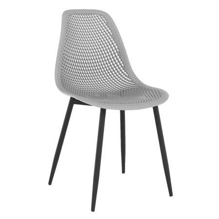 Tempo Kondela Jídelní židle, šedá/černá TEGRA