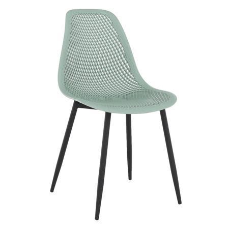 Tempo Kondela Jídelní židle, zelená/černá TEGRA