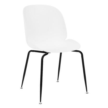 Tempo Kondela Jídelní židle, bílá/černá MENTA