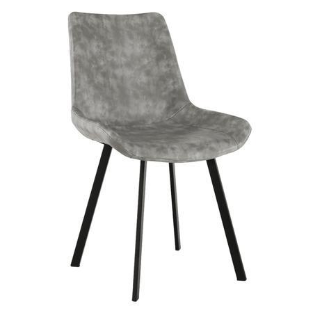 Tempo Kondela Jídelní židle, šedá, NIRO