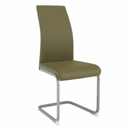 Tempo Kondela Jídelní židle, olivově zelená/šedá, NOBATA
