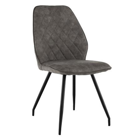 Tempo Kondela Jídelní židle, šedá látka s efektem broušené kůže, HERDA