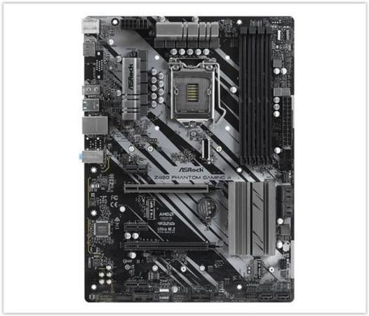 ASRock Z490 PHANTOM GAMING 4 / LGA1200 / Intel Z490 / 4x DDR4 DIMM / HDMI / M.2 / USB Type-C / ATX, Z490 PHANTOM GAMING 4
