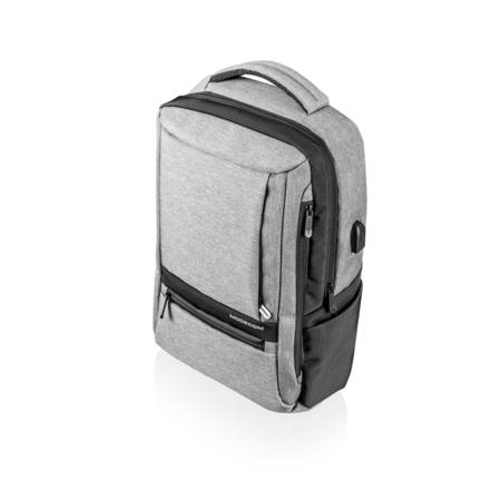"""Modecom batoh SMART 15 na notebooky do velikosti 15,6"""", 7 kapes, USB port, šedočerný, PLE-MC-SMART-15"""