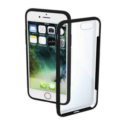 Hama Frame, kryt pro Apple iPhone 7/8/SE 2020, průhledný/černý