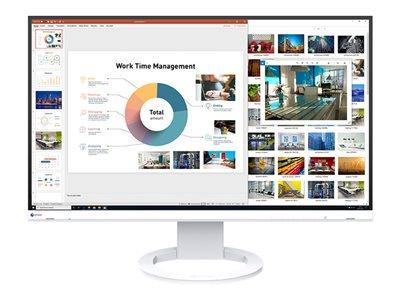 """EIZO 27"""" EV2760-WT,IPS, 2560 x 1440,350 cd/m2,1000:1,5 ms, Ultra Slim, 2x DP, HDMI,DVI, USB, bílý"""