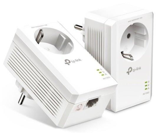 TP-LINK TL-PA7017PKIT STARTER-KIT AV1000 Gigabit Passthrough Powerline Starter Kit, TL-PA7017PKIT