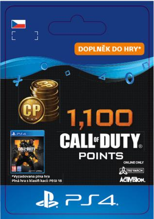 ESD CZ PS4 - 1,100 Call of Duty®: Black Ops4Points
