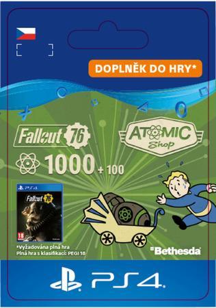 ESD CZ PS4 - Fallout 76: 1000 (+100 Bonus) Atoms
