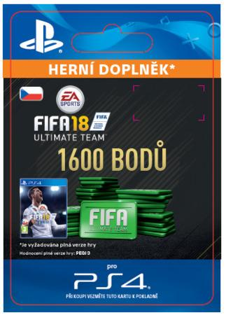 ESD CZ PS4 - 1600 FIFA 18 Points Pack