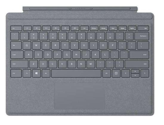 Microsoft Surface Go Sign Type Cover platinově šedý EN