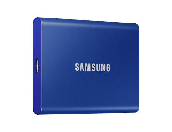 SSD 500GB Samsung externí, modrý